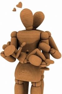 Аватар вконтакте Семья из деревянных папы, мамы и ребенка