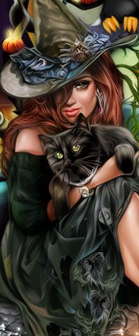 Аватар вконтакте Девушка в шляпе и с с черным котом на руках