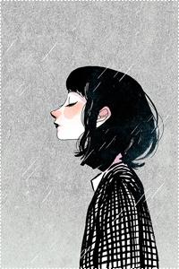 Аватар вконтакте Девушка под дождем, by minayuyu