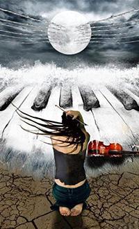 Аватар вконтакте В полнолуние, завороженная романтической музыкой ночного прибоя девушка опустилась на колени, выпустив из рук скрипку