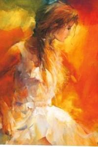 Аватар вконтакте Девушка в белом платье, художник Willem Haenraets