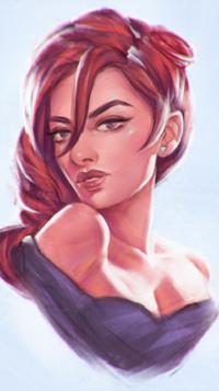 Аватар вконтакте Девушка с каштановыми волосами, by AngelGanev