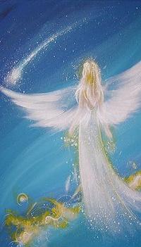 Аватар вконтакте Девушка - ангел на фоне неба