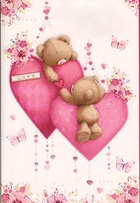 Аватар вконтакте На День святого Валентина Мишка Тедди дарит сердечко своей возлюбленной (LOVE / ЛАВ)