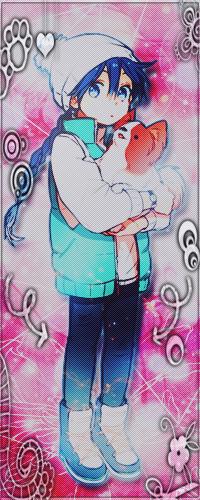 Аватар вконтакте Маленький Алладин / Aladdin из аниме Маги:Лабиринт магии / Magi: Labyrinth of Magic держит в руках собачку