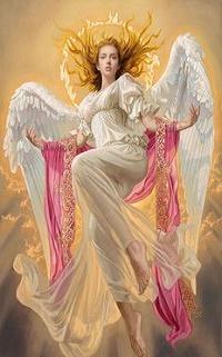 Аватар вконтакте Девушка в образе ангела, художник Tsuyoshi Nagano