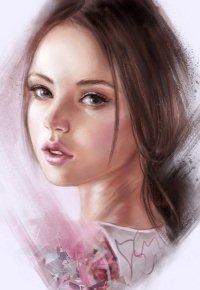 Аватар вконтакте Портрет миловидной девушки на белом фоне