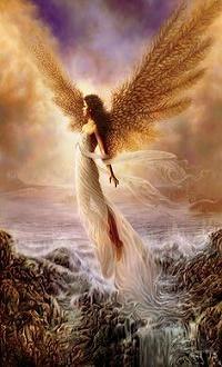 Аватар вконтакте Девушка-ангел над водой