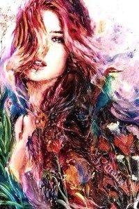 Аватар вконтакте Девушка среди цветов, исходник by Charmaine Olivia