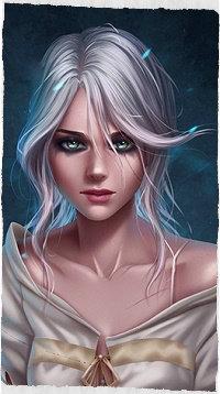Аватар вконтакте Cirilla / Цирилла из игры The Witcher 3 / Ведьмак 3, by Prywinko