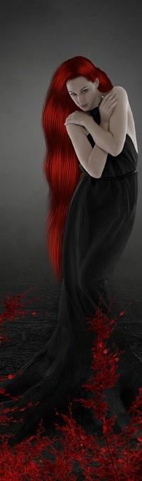 Аватар вконтакте Девушка с длинными яркими волосами, by akramkamil