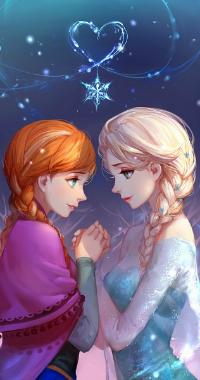 Аватар вконтакте Эльза / Elsa и Анна / Anna из мультфильма Холодное сердце / Frozen, автор Asukaziye