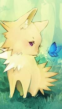 Аватар вконтакте Милое животное смотрит на голубую бабочку, by Faelicia