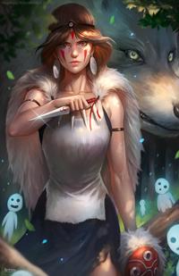 Аватар вконтакте San / Сан, Moro / Моро и лесные духи из аниме Принцесса Мононокэ / Mononoke Hime