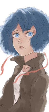 Аватар вконтакте Девушка с синими волосами