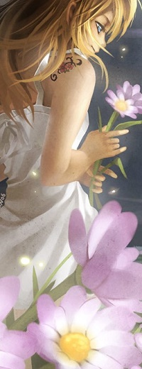 Аватар вконтакте Девушка с цветком в руке