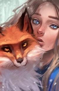 Аватар вконтакте Девочка с лисой