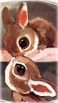 Аватар вконтакте Милые целующиеся кролики