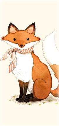 Аватар вконтакте Лиса с шарфиком на шее