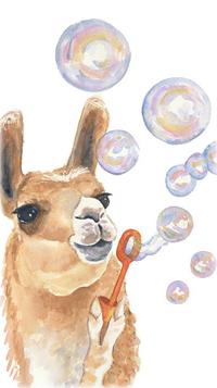 Аватар вконтакте Лама пускает мыльные пузыри
