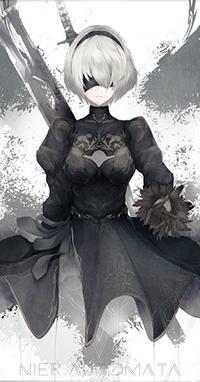 99px.ru аватар YoRHa №2 тип B из игры NieR: Automata, автор Marumoru