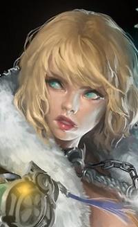 Аватар вконтакте Девушка с голубыми глазами