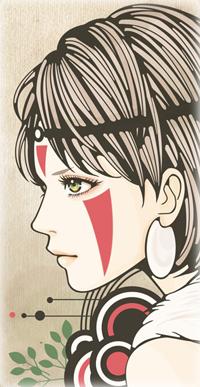 Аватар вконтакте San / Сан из аниме Принцесса Мононокэ / Mononoke Hime