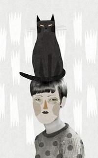 99px.ru аватар На голове мальчика сидит черный кот