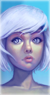 Аватар вконтакте Девушка с короткими, светлыми волосами