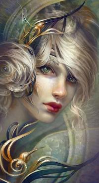 Аватар вконтакте Портрет светловолосой девушки с красивыми глазами