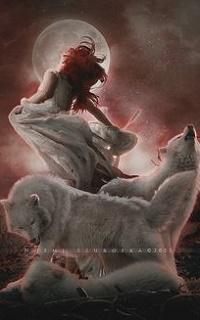 Аватар вконтакте Девушка и белые волки, by shadeley