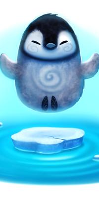 Аватар вконтакте Пингвинчик над льдиной