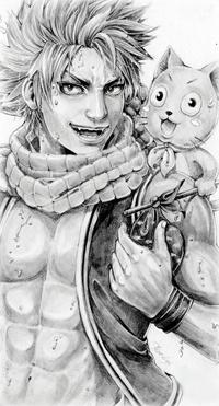 Аватар вконтакте Нацу Драгнил / Natsu Dragneel и Хэппи / Happy из аниме Сказка о Хвосте феи / Fairy Tail