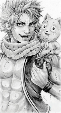 99px.ru аватар Нацу Драгнил / Natsu Dragneel и Хэппи / Happy из аниме Сказка о Хвосте феи / Fairy Tail