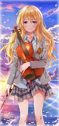 99px.ru аватар Каори Миязоно / Kaori Miyazono из аниме Твоя апрельская ложь / Shigatsu wa Kimi no Uso