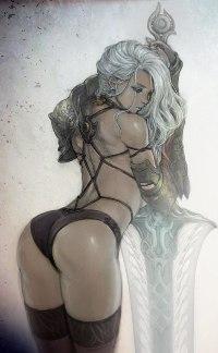 Аватар вконтакте Сексуальная девушка с огромным мечом
