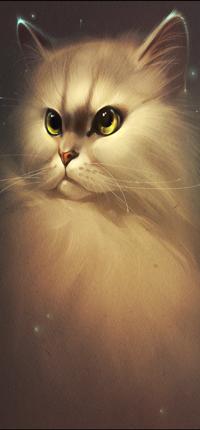 Аватар вконтакте Белоснежная кошка с янтарными глазами, by GaudiBuendia