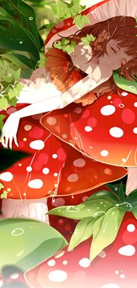 Аватар вконтакте Девушка лежит на грибах, by samascqua