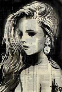 Аватар вконтакте Портрет девушки на газете