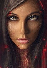 Аватар вконтакте Арт-портрет темноволосой девушки