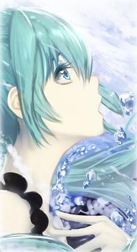 Аватар вконтакте Vocaloid Hatsune Miku / Вокалоид Хатсуне Мику в профиль
