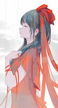 Аватар вконтакте Хина Кагияма / Hina Kagiyama из игры Проект Восток / Touhou Project, автор Jq