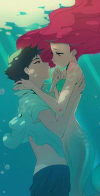 Аватар вконтакте Ариэль / Ariel и Принц Эрик / Prince Erick из мультфильма Русалочка / Little Mermaid, автор Angela Vianello