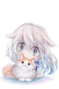 Аватар вконтакте Неко-девочка и котенок, by 小猫まり