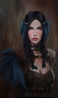 Аватар вконтакте Девушка с синими перьями на голове, by NikiVaszi