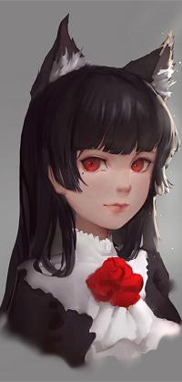 Аватар вконтакте Рури Гоко / Ruri Gokou с ушками, персонаж из аниме Ну не может сестренка быть такой милой / Ore no Imouto ga Konnani Kawaii Wake ga Nai,