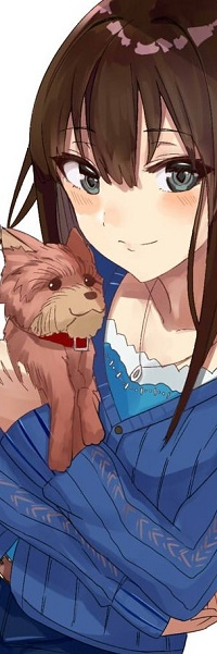 Аватар вконтакте Девушка со щенком на руках