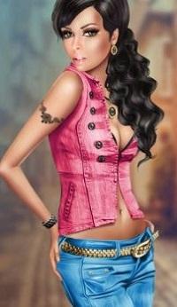 Милая девушка в розовой кофточке