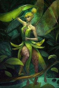 Аватар вконтакте Миниатюрная фея среди листьев деревьев