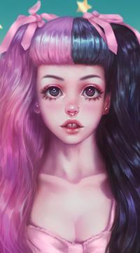 Аватар вконтакте Девушка с розово-черными волосами, by MirageMari